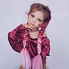 Каникалон для брейд и причёсок омбре розовое, фото 4
