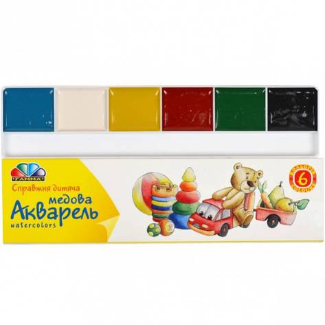 Акварель 6 цветов картон «Гамма» 17×4,5 см, фото 2