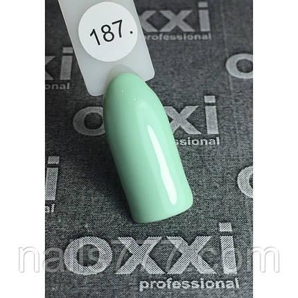 Гель лак Oxxi №187(бледный салатовый, эмаль) 8мл, фото 2