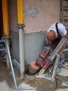 Отверстия для трубы кабель канала в бетонном, ж/бетонном перекрытие и/или стене