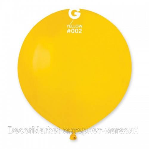 Шарик воздушный 19 дюймов (48 см) пастель ЖЕЛТЫЙ