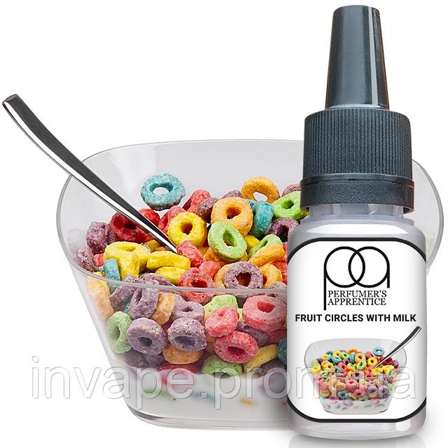 Ароматизатор TPA Fruit Circles With Milk (Фруктовые Колечки с Молоком) 5мл