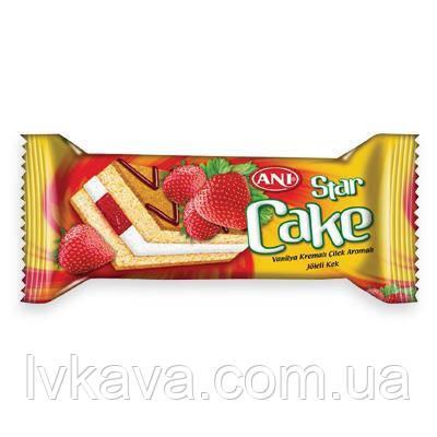 Бисквит ANI Star cake с клубничным кремом, 25 гр