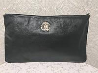 Кожаная черная сумочка через плечо дешево
