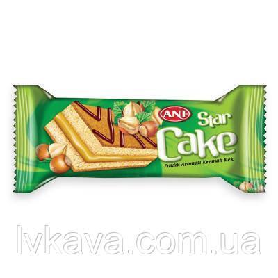 Бисквит ANI Star cake c кремом со вкусом фундука , 25 гр