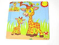 """Деревянная игрушка Пазлы """"жираф"""""""