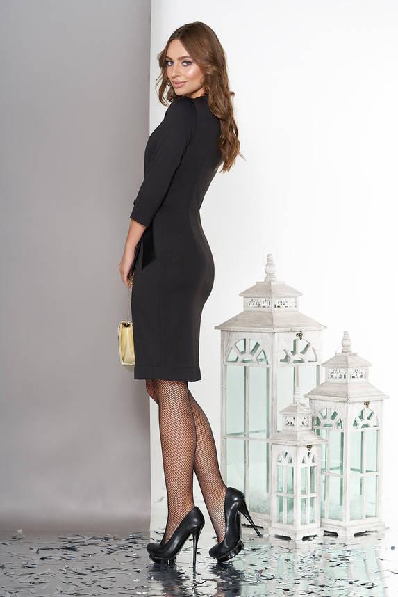 Коктейльное платье с запахом комбинированное, фото 2