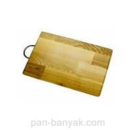 Доска кухонная дерево с с ручкой 30х20 см дуб Дерево Карпат