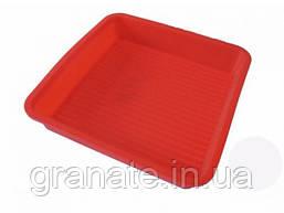 Форма для выпечки квадратная с ребристым дном 20х20х4 см