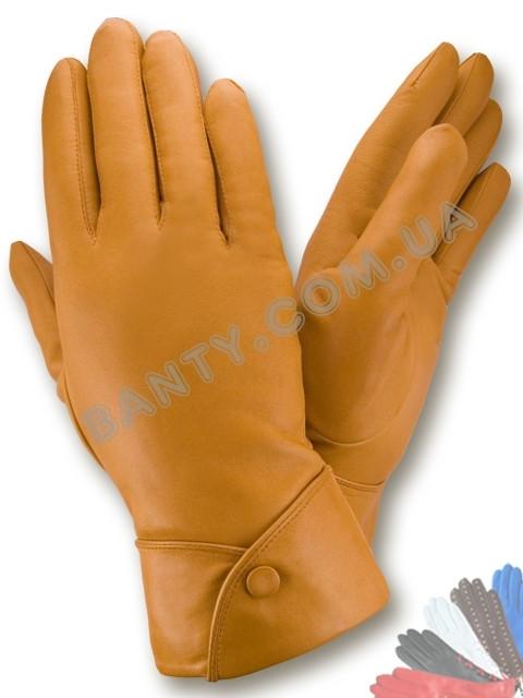 Женские перчатки на шерстяной подкладке, модель 132