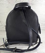 116-6 Натуральная кожа, Городской рюкзак, цвет джинс (серый синий), тиснение сафьяно, фото 3
