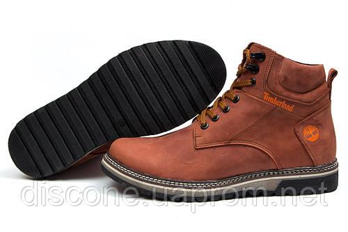 Зимние ботинки на меху Timberland, рыжий (30871), р.  [  42 43 44 45  ]