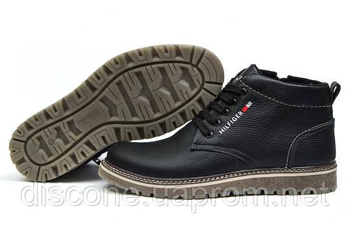 Зимние ботинки на меху Hilfiger Denim, черные (30891), р.  [  40 42 43 44  ]