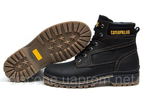 Зимние ботинки на меху CAT Caterpilar Anti-Glide, черные (30542), р.  [  40 41 42 43 44 45  ]