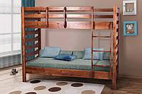 Двухъярусная кровать Троя (темный орех)