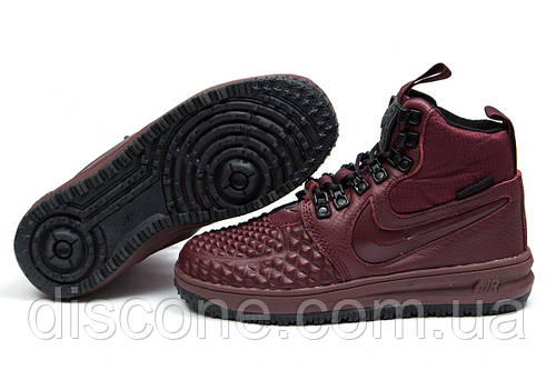 Зимние кроссовки Nike LF1 Duckboot, бордовые (30926), р.  [  36 37 38 39 41  ]