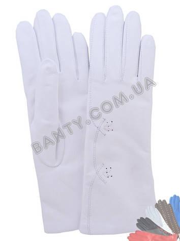 Жіночі рукавички на вовняної підкладці, модель 140, фото 2