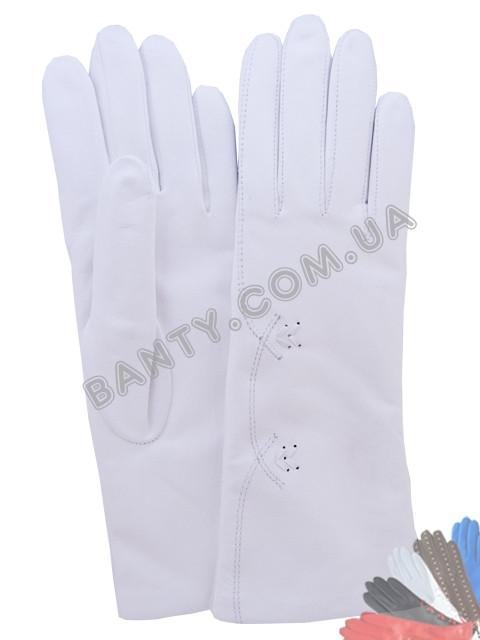 Жіночі рукавички на вовняної підкладці, модель 140