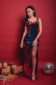 Вечернее платье из материала пайетка