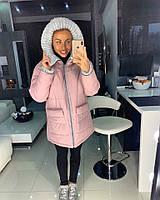 Курточка зимняя розовая, фото 1