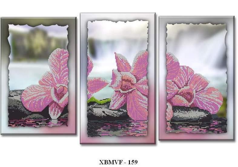 Триптих орхидея вышивка схемы