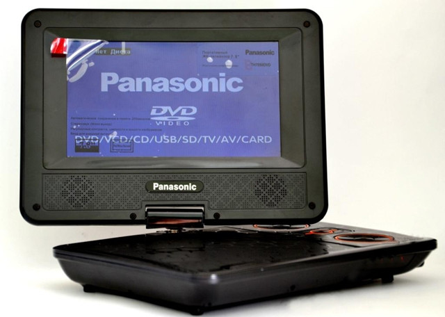 "Panasonic TH 7050 Портативный DVD 7,6"" TV+USB+SD, фото 1"