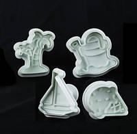 """Форма для печенья Empire  """"море"""" 4 штуки пластик (8610 EM)"""