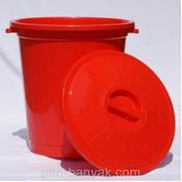 Бак хозяйственный с крышкой 70л d44 см h45 см полипропилен Al-Plastic