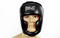 Боксерский шлем EVERLAST р. М  кож/винил с полной защитой регулируемый, фото 1