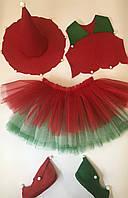 Новогодний костюм для девочки Різдвяна квітка, фото 1