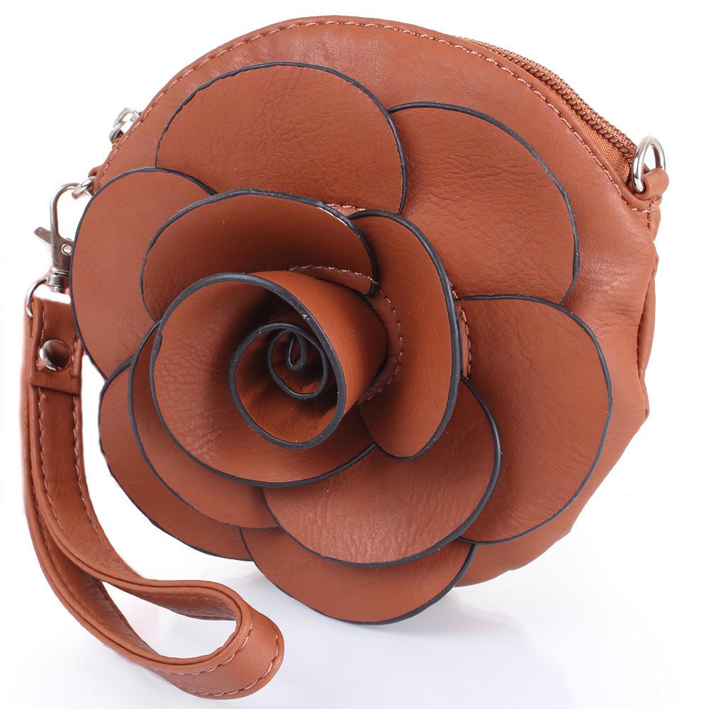 Клатч-кошелек женский HJP UHJP8138-8 кожзам коричневый
