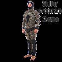 Гидрокостюм для подводной охоты Marlin Skilur Green 2.0 (короткие штаны); толщина 3 мм