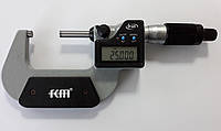 Микрометр цифровой KM-2133-50 / 0.001 (25-50 мм) в водозащищённом металлическом корпусе IP 65 , фото 1