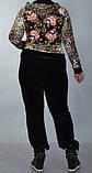 Женский велюровый спортивный костюм, размеры 44,46,48,50,52 , фото 3