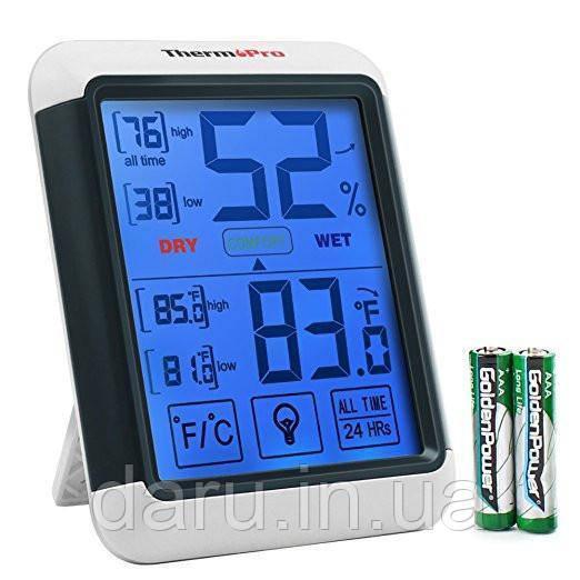 Термо-гигрометр ThermoPro TP-55 (-50°C ... 70°C; 10%...99%) с подсветкой и магнитом