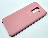Чохол Silicone Case Cover Samsung Galaxy A6+ A605 2018 / A6 Plus 2018 рожевий