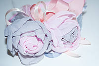 Обруч с розовой и серой розой
