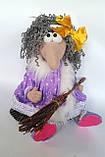Баба Яга Печерська Інтер'єрна лялька-оберіг, фото 2