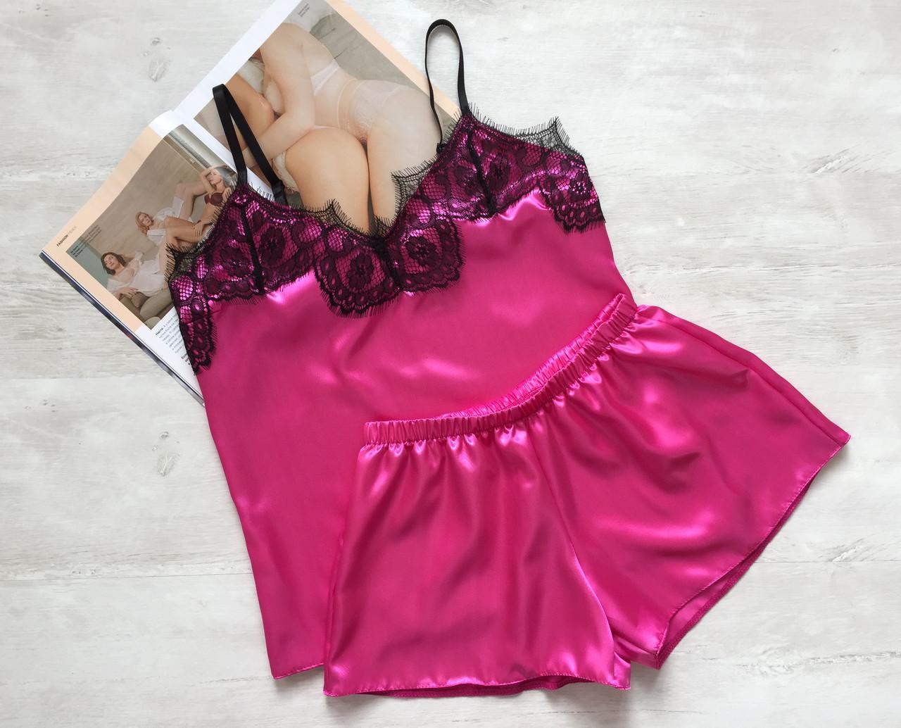 Пижама женская атлас малина