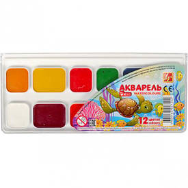 Акварель «Мини» 12 цветов пластик «Луч» 18,5×8 см