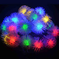Новогодняя разноцветная LED-гирлянда Пушистики