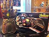 Электронная Перчатка Танос Герой Marvel, свет,звук Thanos Articulated Electronic Fist, HASBO! Оригинал из США , фото 2