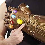 Электронная Перчатка Танос Герой Marvel, свет,звук Thanos Articulated Electronic Fist, HASBO! Оригинал из США , фото 5