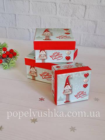 Коробка подарункова Ельф біла