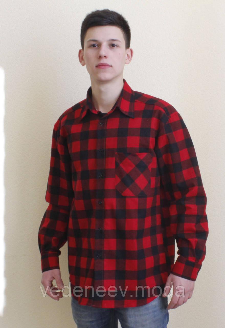 d299661314e Красная теплая рубашка в клетку - Мужские и женские РУБАШКИ для ВСЕХ.