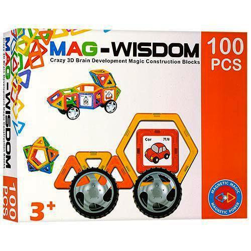 Магнитный конструктор Mag-Wisdom KB04117, 100 дет