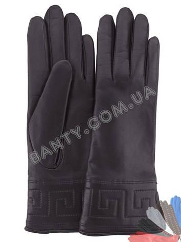 Жіночі рукавички на вовняної підкладці, модель 197, фото 2