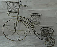 Підставка Велосипед 3 великий чорни з золотом Подставка Велосипед 3 большой черный с золотом