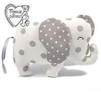 Мягкая игрушка Сплюшка для малышей Слон маленький, ручная работа