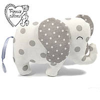 М'яка іграшка Сплюшка для малечі маленький Слон, ручна робота